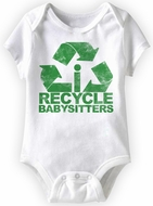 Baby Funny Romper Recycle Infant White Babies Creeper