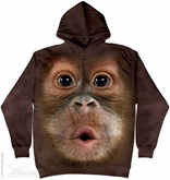 Baby Orangutan Hoodie Tie Dye Adult Hooded Sweat Shirt Hoody