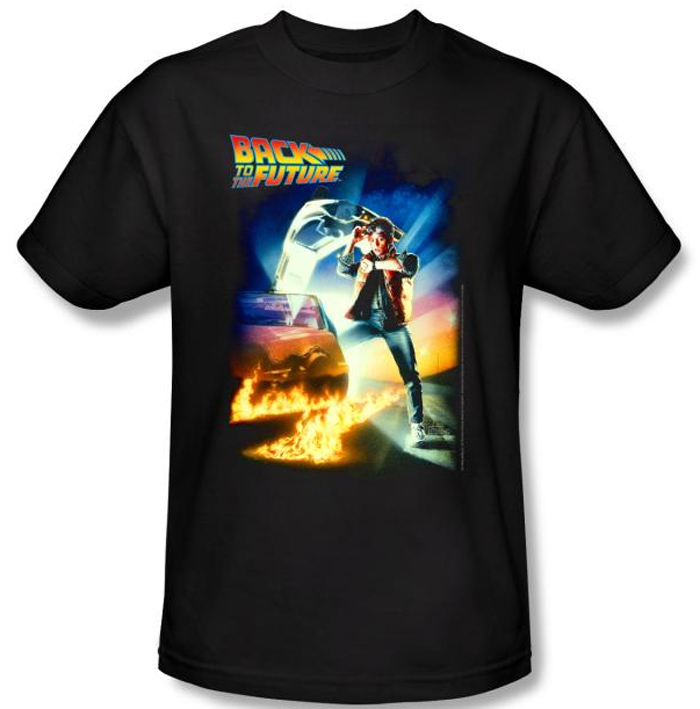 Back to the future kids t shirt movie poster black shirt youth 2 jpg