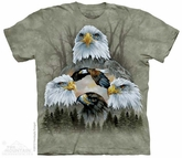 Bald Eagle Collage Shirt Tie Dye Adult T-Shirt Tee