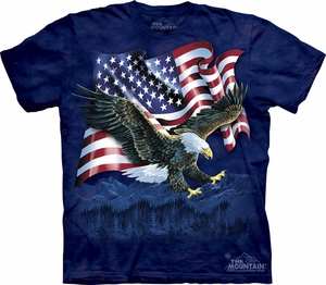 Bald Eagle Shirt Tie Dye Talon American Flag T-shirt Adult Tee