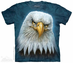 Bald Eagle Stare Shirt Tie Dye Adult T-Shirt Tee