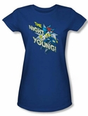 Batgirl Juniors T-shirt - The Night Is Young DC Comics Royal Blue Tee