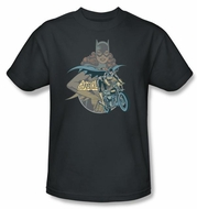 Batgirl Kids T-shirt - Batgirl Biker DC Comics Charcoal Youth