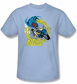 Batgirl Kids T-shirt - Batgirl Motorcycle Dc Comics  Light Blue Youth