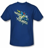 Batgirl Kids T-shirt - The Night Is Young DC Comics Royal Blue Youth