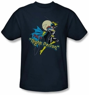 Batgirl T-shirt � Night Person DC Comics Adult Navy Blue Tee