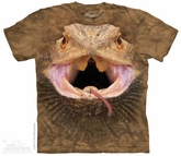 Bearded Dragon Shirt Tie Dye Adult T-Shirt Tee