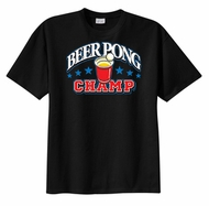 Beer Pong Champ T-shirt Cups Drunk Funny Tee Shirt