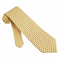 Bees Yellow Silk Tie Necktie - Men's Insect Print Neck Tie