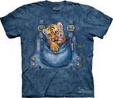 Bengal Tiger Shirt Tie Dye Overalls T-shirt Adult Tee