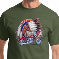 Big Chief Indian Motorcycle Mens Shirts