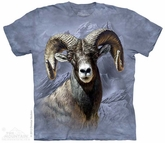 Big Horn Sheep Shirt Tie Dye Adult T-Shirt Tee