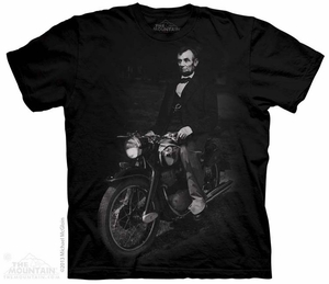 Biker Lincoln Shirt Tie Dye Adult T-Shirt Tee