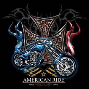 Biker T-shirt - American Ride USA Tee