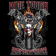 Biker T-shirt - Ride Tough Pacific County Choppers Tee