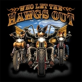 Biker T-shirt - Who Let the Hawgs Out Adult Tee Shirt