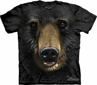 Black Bear Shirt Tie Dye Grizzly Face T-shirt Adult Tee