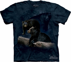 Black Bear Shirt Tie Dye Trilogy Adult T-shirt Tee