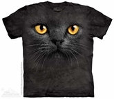 Black Cat Face Shirt Tie Dye Adult T-Shirt Tee