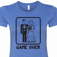 Black Game Over Ladies Shirts