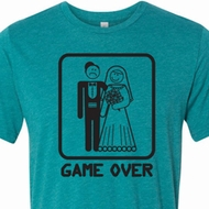 Black Game Over Mens Shirts