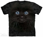 Black Kitten Shirt Tie Dye Adult T-Shirt Tee