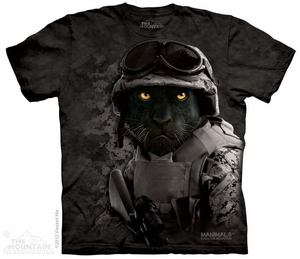 Black Panther soldier T-shirt Tie Dye Adult Tee