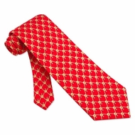 Block Tackle Tie Red Silk Necktie � Mens Sports Neck Tie