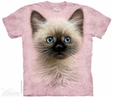 Blue Eyed Kitten Shirt Tie Dye Adult T-Shirt Tee