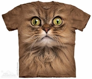 Brown Cat Face Shirt Tie Dye Adult T-Shirt Tee