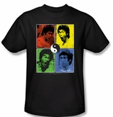 Bruce Lee Kids T-shirt Youth Enter Color Block Black