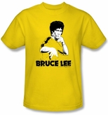 Bruce Lee Kids T-shirt Youth Suit Splatter Yellow