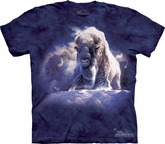 Buffalo Shirt Tie Dye T-shirt Bison His Divine Presence Adult Tee