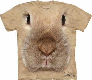 Bunny Shirt Tie Dye Rabbit Portrait Face T-shirt Adult Tee