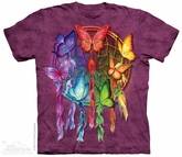 Butterfly Dream Catcher  Shirt Tie Dye Adult T-Shirt Tee