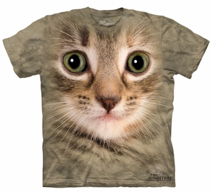 Cat Kids Shirt Tie Dye Kitten Face T-shirt Tee Youth