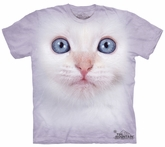 Cat Kids Shirt Tie Dye White Kitten Face T-shirt Tee Youth