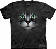 Cat Shirt - Emerald Eyes Adult Tie Dye T-shirt
