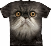 Cat Shirt Tie Dye Kitten Furry Face T-shirt Adult Tee