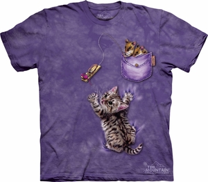 Cat Shirt Tie Dye Kitten Mousetrap T-shirt Adult Tee