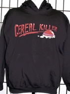 Cereal Killer Funny Adult Humor Hoodie Sweatshirt