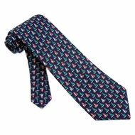 Christmas Fleet Navy Blue Silk Tie Necktie � Men�s Holiday Neck Tie
