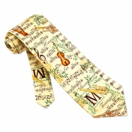 Concerto Off-White Silk Tie Necktie � Men�s Entertainment Neck Tie