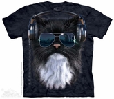 Cool Cat Shirt Tie Dye Adult T-Shirt Tee