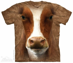 Cow Face T-shirt Tie Dye Adult Tee