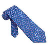 Crabby Crabs Silk Tie Necktie - Men�s Animal Blue Print Neck Tie
