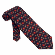 Crabs Navy Blue Silk Tie Necktie - Men's Animal Print Neck Tie