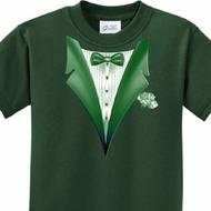 Dark Green Tuxedo Kids Shirts