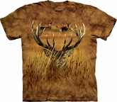 Deer Shirt Tie Dye Buck Hidden Hunting T-shirt Adult Tee